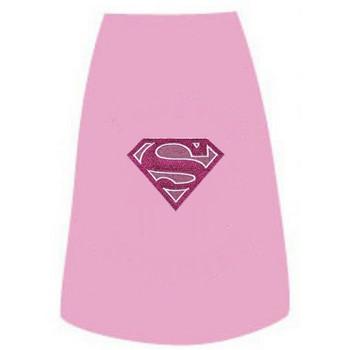 Supergirl Glitter Logo Patch Dog Tees