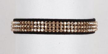 Golden Shadow Crystal 3 Row Collars
