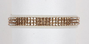 Golden Shadow Crystal 3 Row Collars