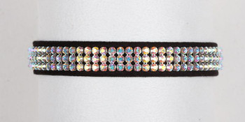 Aurora Borealis Crystal 3 Row Collars