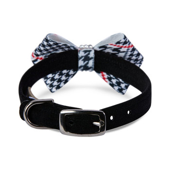 Classic Glen Houndstooth Nouveau Bow Collar