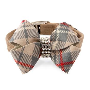 Scotty Nouveau Bow Doe Plaid Bow Collar