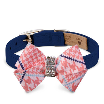 Peaches N' Cream Glen Houndstooth Nouveau Bow Collar