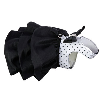 B&W Polka Dot Couture Designer Madison Dog Dress