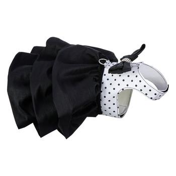 B&W Polka Dot Couture Designer Madison Dog Dress