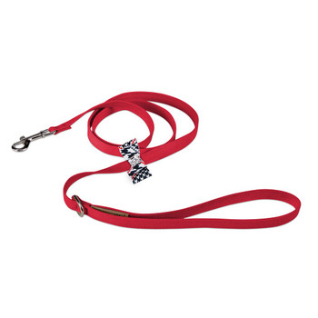 Classic Glen Houndstooth Big Bow Leash