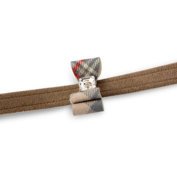 Scotty Fawn Plaid Big Bow Leash