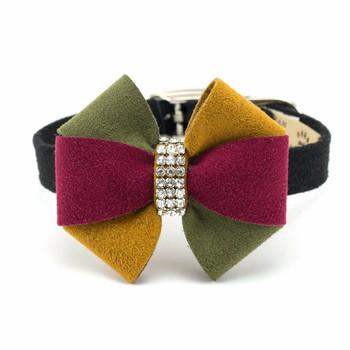 Autumn Bow Dog Collar & optional Leash