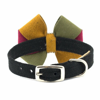 Autumn Bow Dog Collar & optional Leash