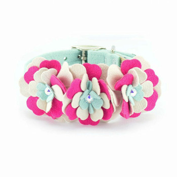 Blossom Flowers Dog Collar & optional Leash