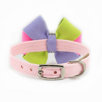 Madison Bow Dog Collar & optional Leash
