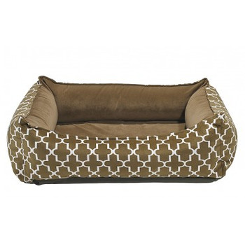 Cedar Lattice Microvelvet Oslo Ortho Pet Dog Bed