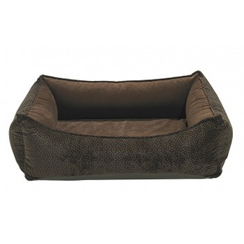 Chocolate Bones Microvelvet Oslo Ortho Pet Dog Bed