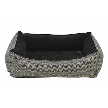 Herringbone Microvelvet Oslo Ortho Pet Dog Bed