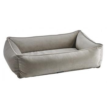 Almond Microvelvet Urban Lounger Pet Dog Bed