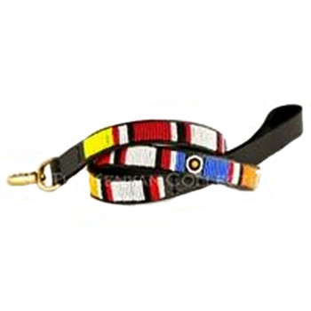 Circle of Life African Beaded Dog Leash