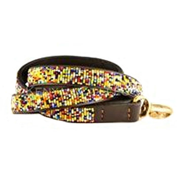 Confetti African Beaded Dog Leash