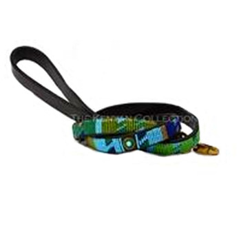 Peacock African Beaded Dog Leash