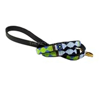 Passion Flower African Beaded Dog Leash