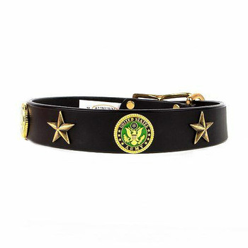 Army Military Service Emblem Collar - Size 18 - 34 Inch