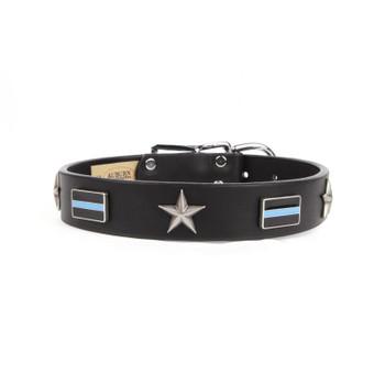Thin Blue Line Service Emblem Collar - Size 18 - 34 Inch