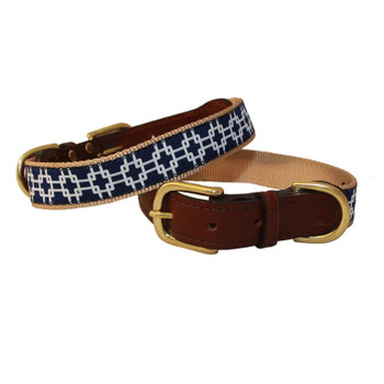 American Traditions Dog Collar - Grid Lock