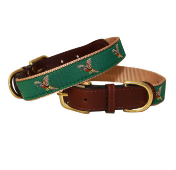 American Traditions Dog Collar - Pheasants