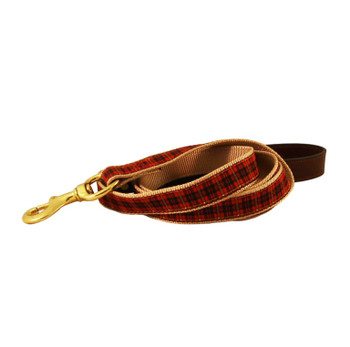 American Traditions Dog Collar - Red Plaid