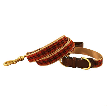 American Traditions Dog Leash - Red Plaid
