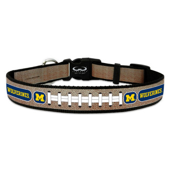 Michigan Wolverines Reflective Football Pet Collar