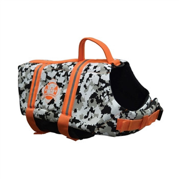 Black/White CAMO Neoprene Pet Life Vest