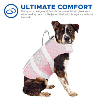 Pink / Grey Polka Neoprene Pet Life Vest