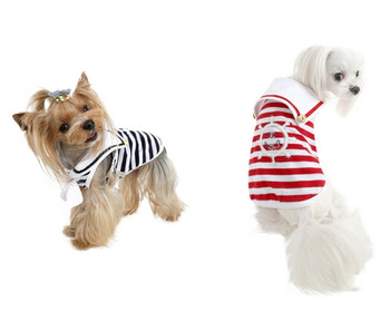 Marine Stripe Dog T-shirt