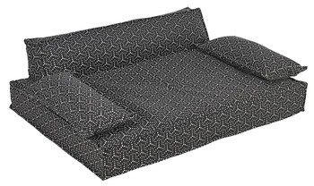 Scandinave Pet Dog Sofa Bed - Cosmic Grey Jacquard