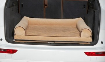 Cross Country SUV Bolster Dog Bed - Almond Microvelvet