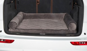 Cross Country SUV Bolster Dog Bed - Ash Microvelvet