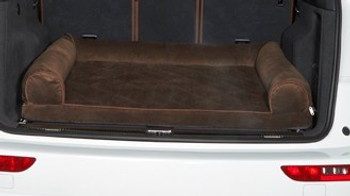 Cross Country SUV Bolster Dog Bed - Hickory Microvelvet