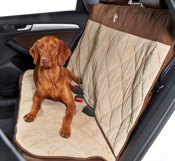 Cross Country Back Seat Cover - Almond / Cowboy Microvelvet
