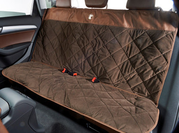Cross Country Back Seat Cover - Hickory / Cowboy Microvelvet