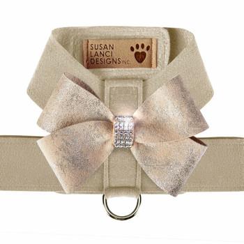 Doe Tinkie Harness with Champagne Glitzerati Nouveau Bow - Choose Color