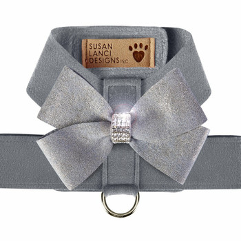 Platinum Tinkie Harness with Platinum Glitzerati Nouveau Bow - Choose Color