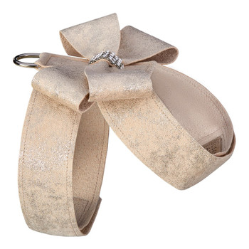 Champagne Glitzerati Nouveau Bow Tinkie Dog Harness
