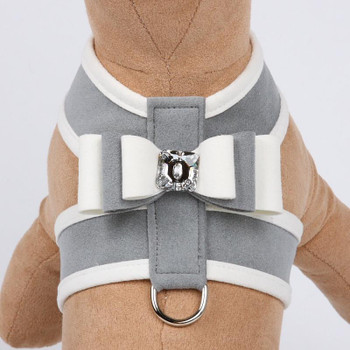 Special Occasion Platinum Big Bow Tinkie Harnesses by Susan Lanci
