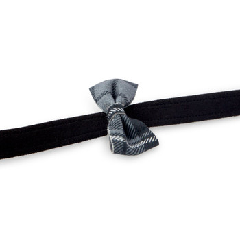 Scotty Charcoal Plaid Bow Tie Dog Leash