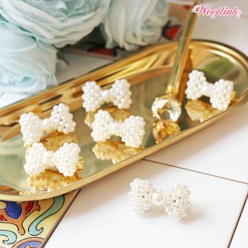 Wooflink White Pearl Dog Bow Barrette
