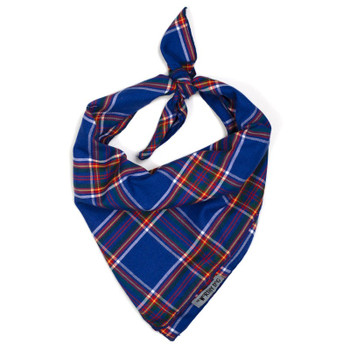 Royal Plaid Dog Tie Bandana