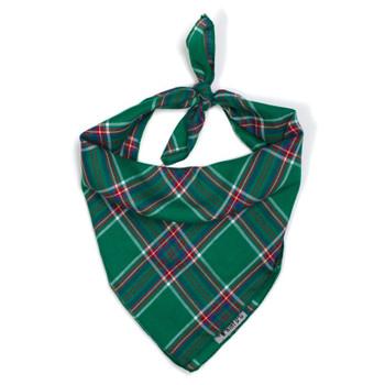 Kelly Plaid Dog Tie Bandana