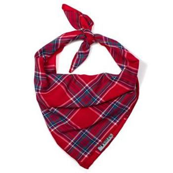 Red Plaid II Dog Tie Bandana