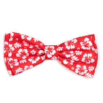 Aloha Coral Pet Dog Bow Tie