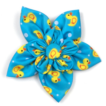 Rubber Duck Pet Dog Collar Flower